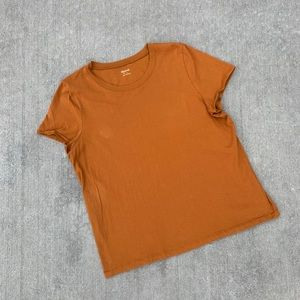 Madewell large burnt orange t-shirt